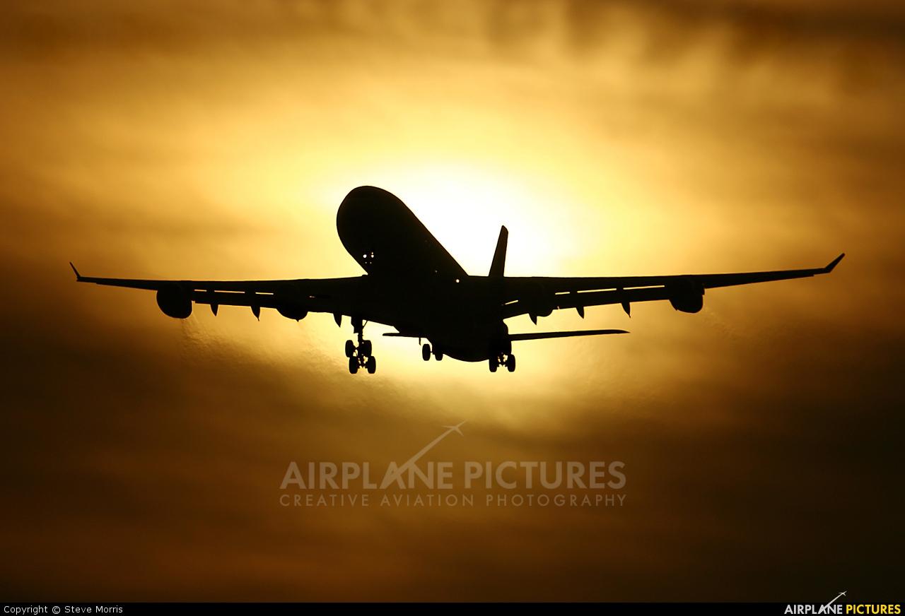 Virgin Nigeria G-VBUS aircraft at London - Gatwick
