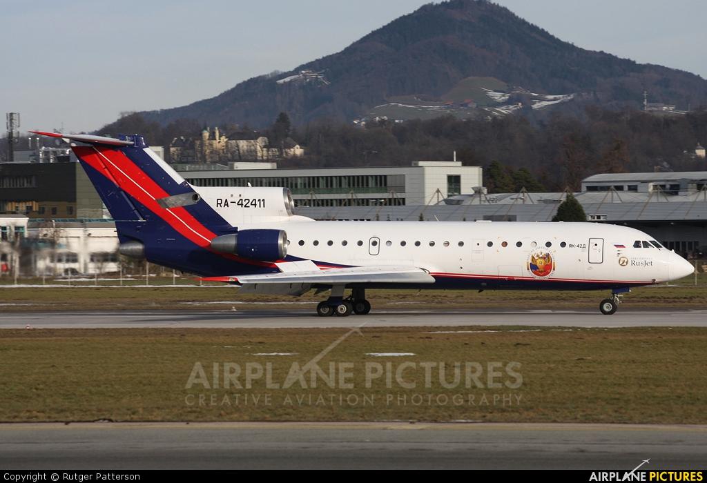 Rusjet Aircompany RA-42411 aircraft at Salzburg