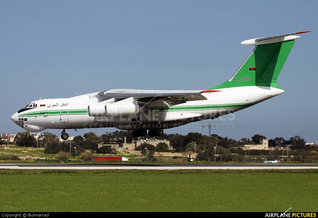 Libyan Air Cargo 5A-DRS aircraft at Malta Intl