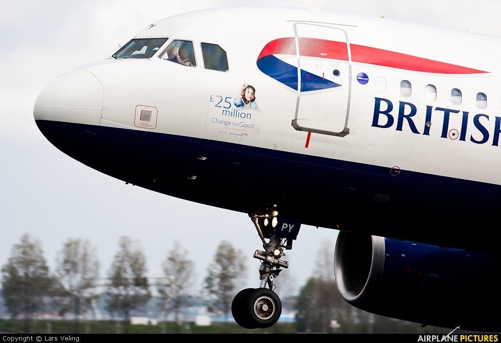 British Airways G-EUPY aircraft at Amsterdam - Schiphol