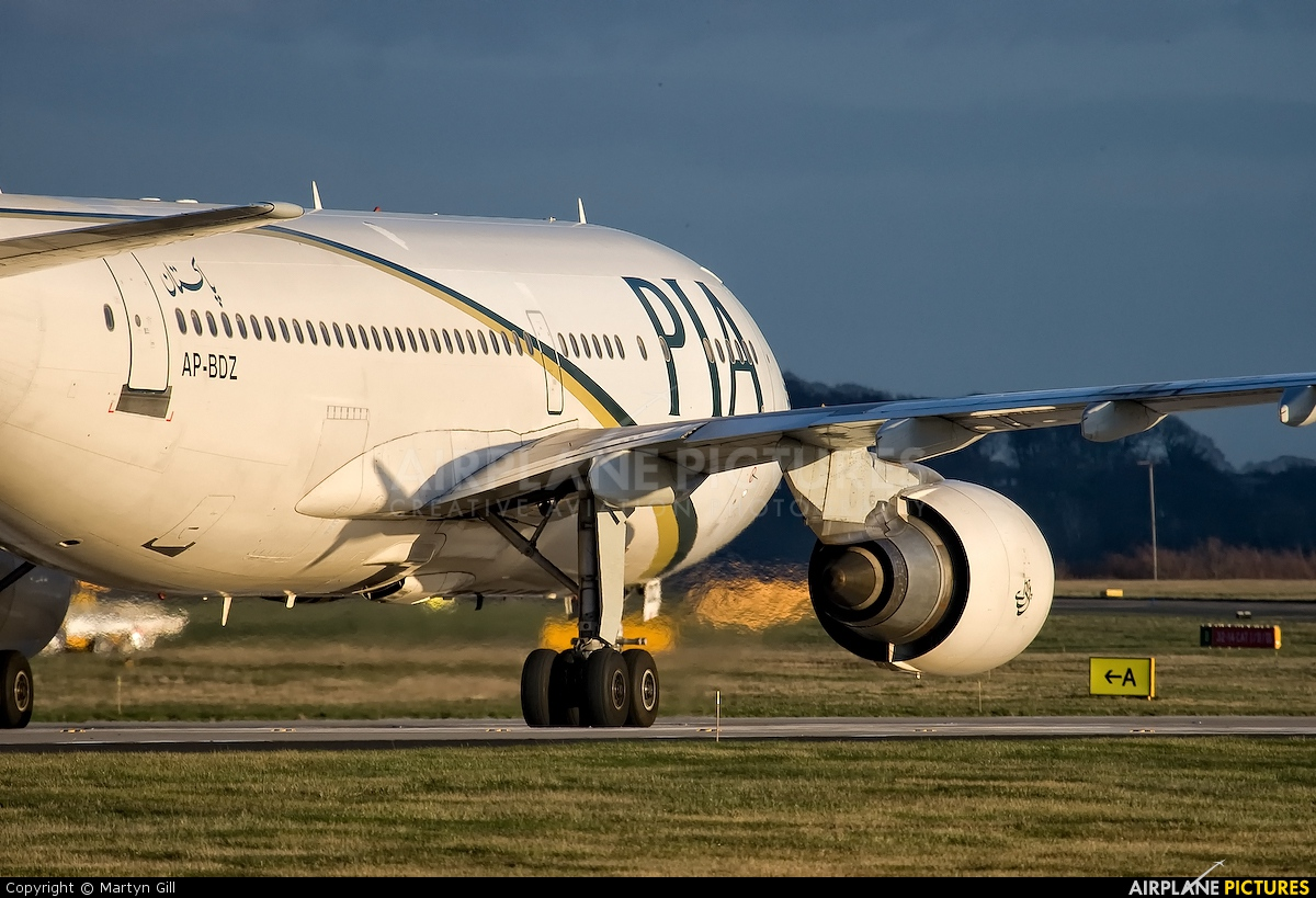 PIA - Pakistan International Airlines AP-BDZ aircraft at Leeds Bradford