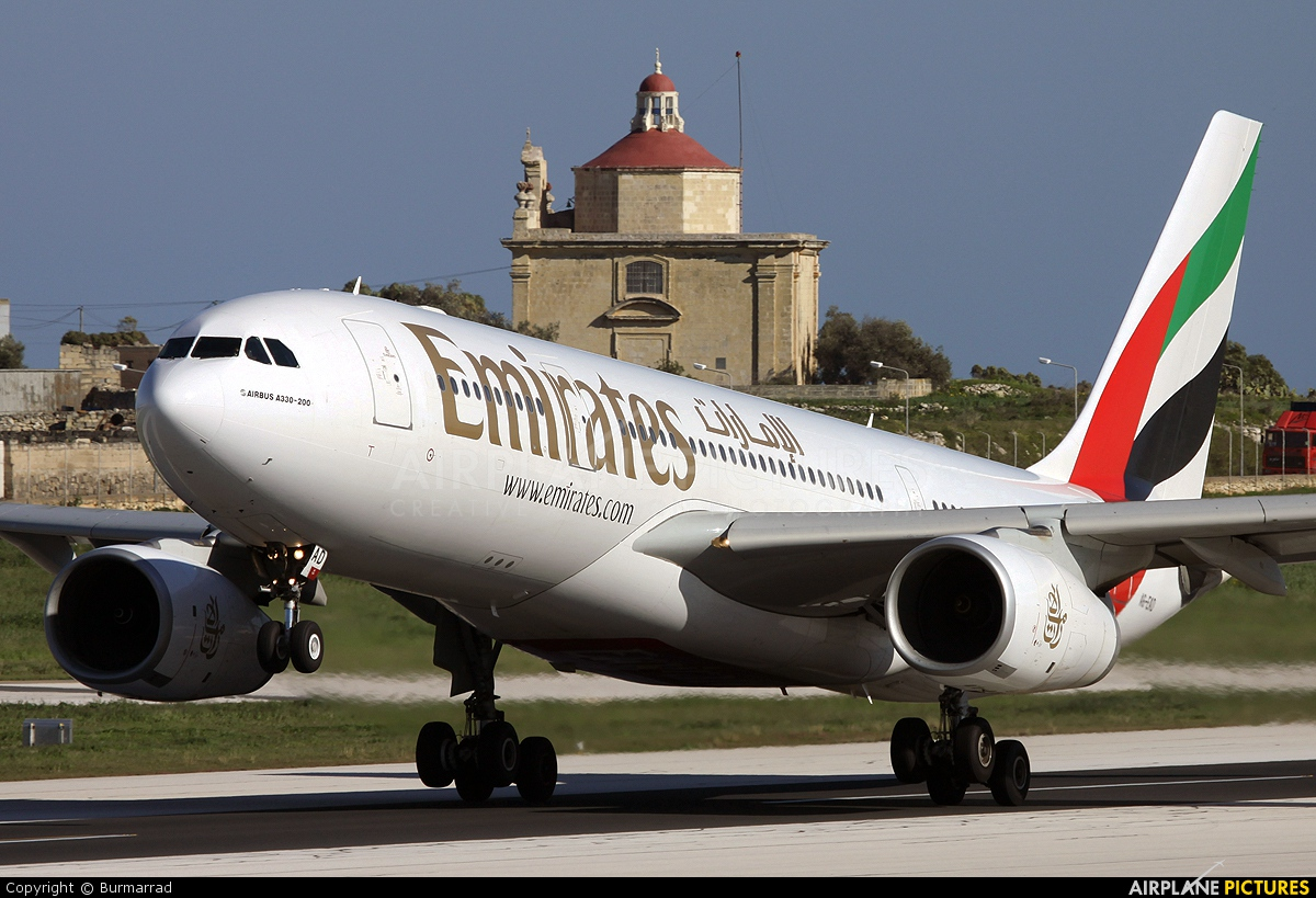 Emirates Airlines A6-EAD aircraft at Malta Intl