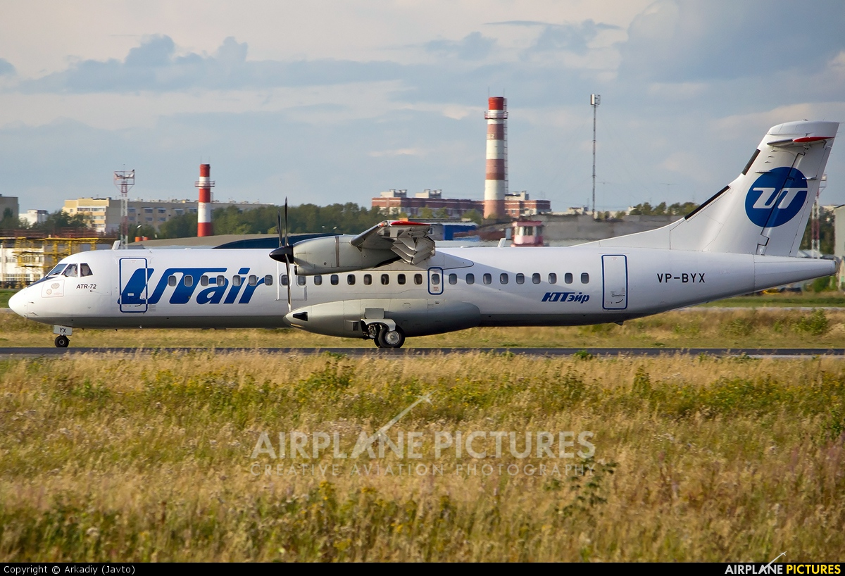 UTair VP-BYX aircraft at Koltsovo - Ekaterinburg