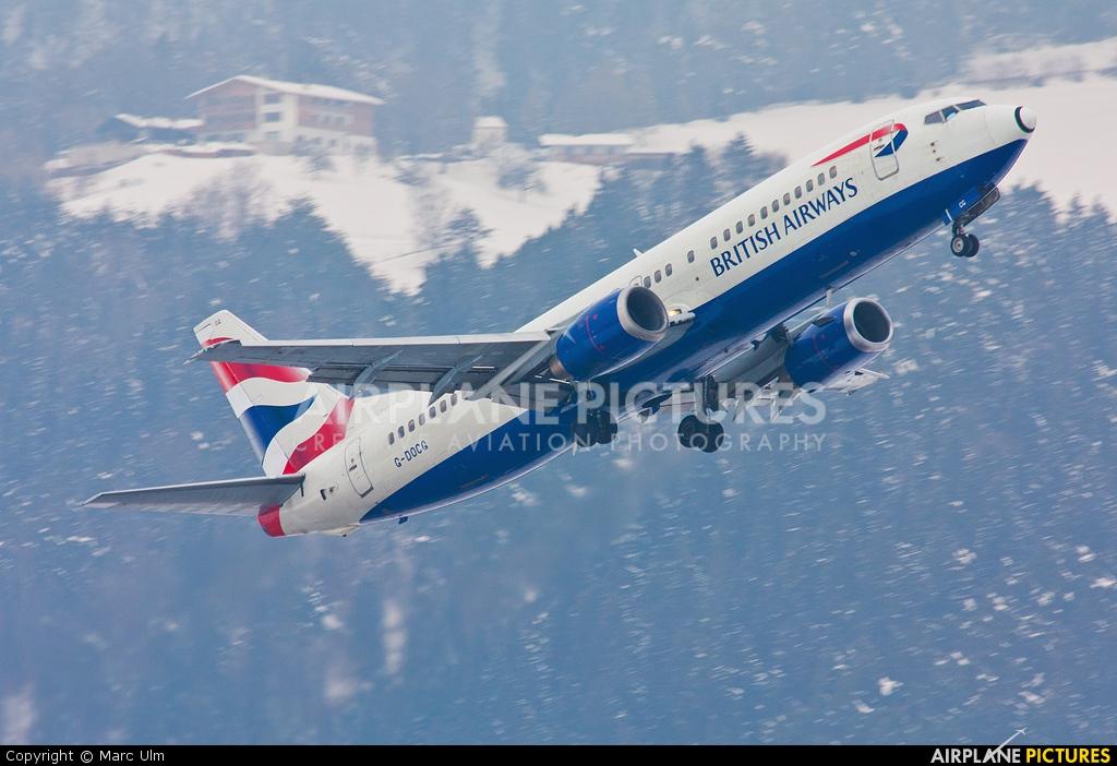 British Airways G-DOCG aircraft at Innsbruck