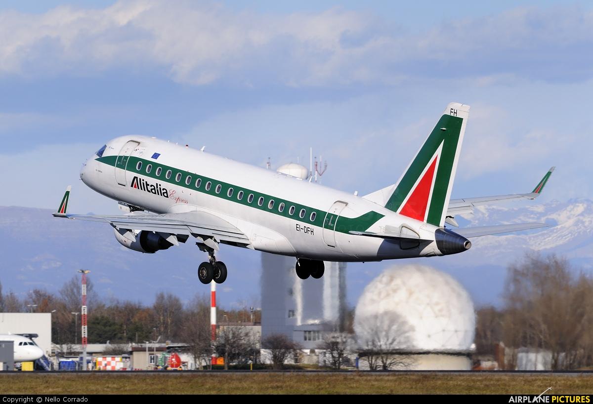 Alitalia Express EI-DFH aircraft at Milan - Linate