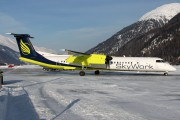 HB-JGA - Sky Work Airlines de Havilland Canada DHC-8-400Q Dash 8 aircraft