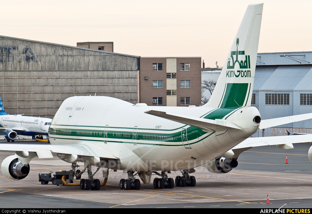 HZWBT7  Kingdom Holding Boeing 747400 At Boston  General Edward Lawrence