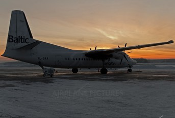 YL-BAA - Air Baltic Fokker 50