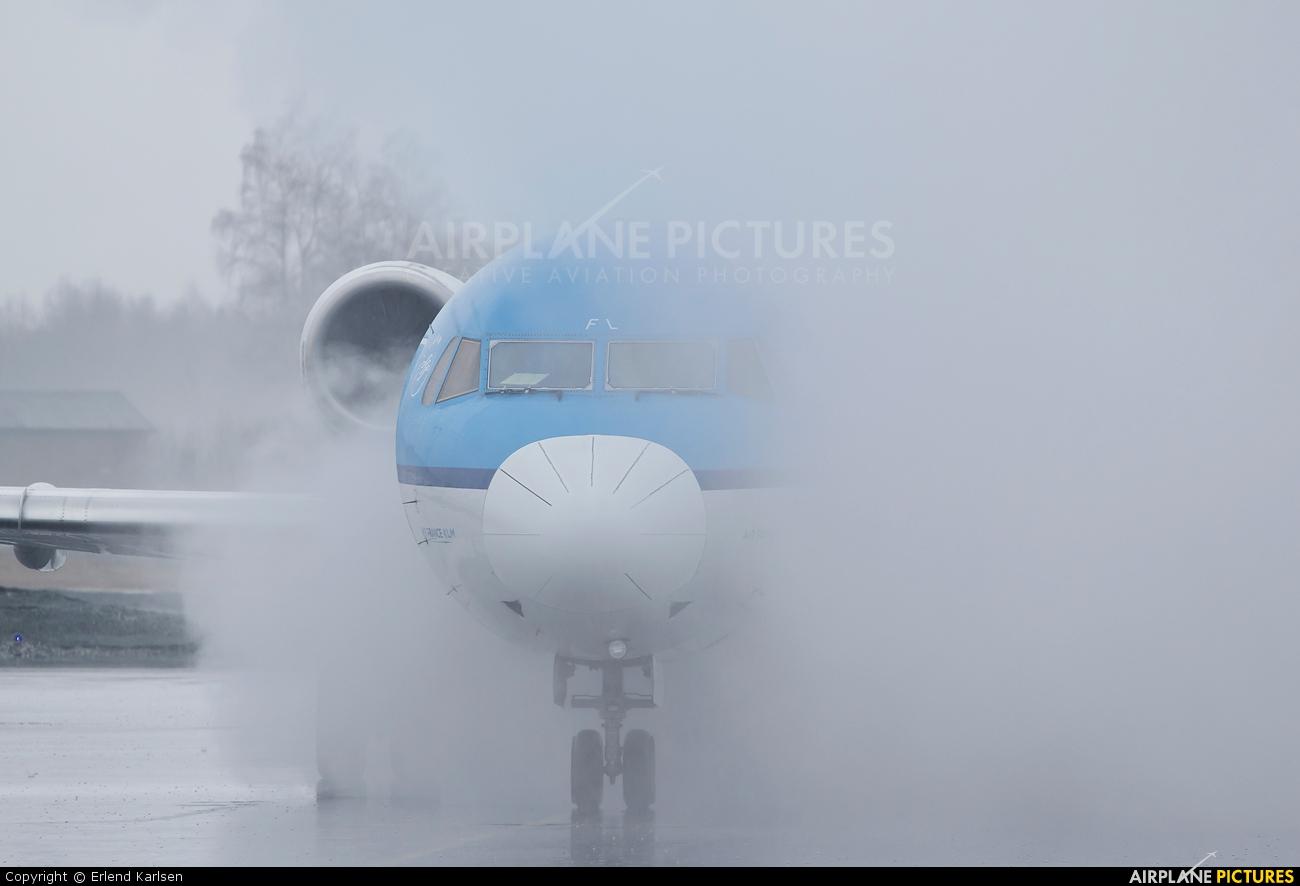 KLM Cityhopper PH-OFL aircraft at Trondheim - Vaernes