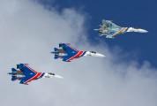 """04 - Russia - Air Force """"Russian Knights"""" Sukhoi Su-27 aircraft"""