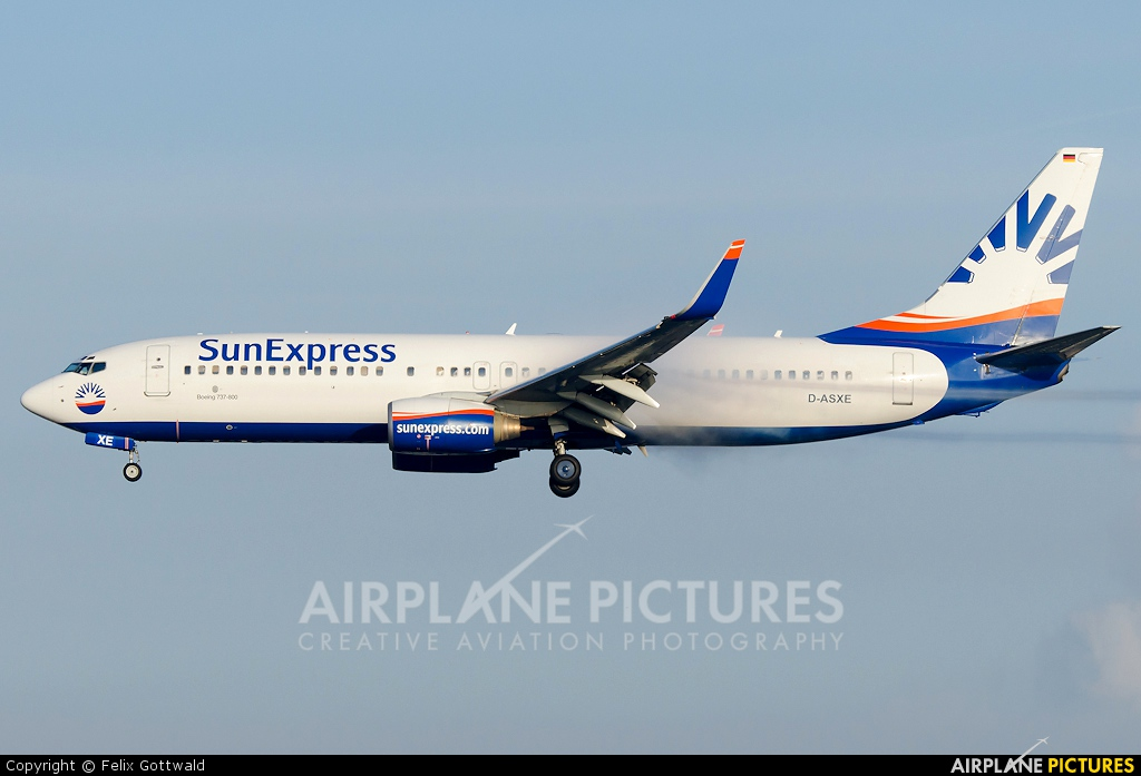 SunExpress Germany D-ASXE aircraft at Frankfurt