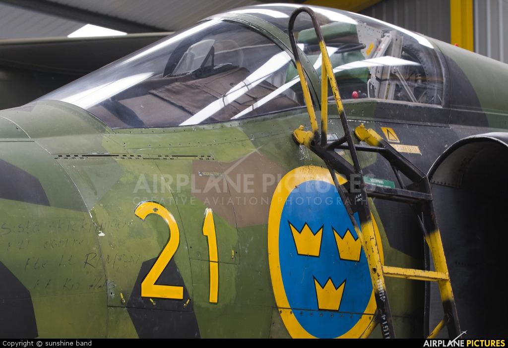 Sweden - Air Force 37918 aircraft at Newark Air Museum