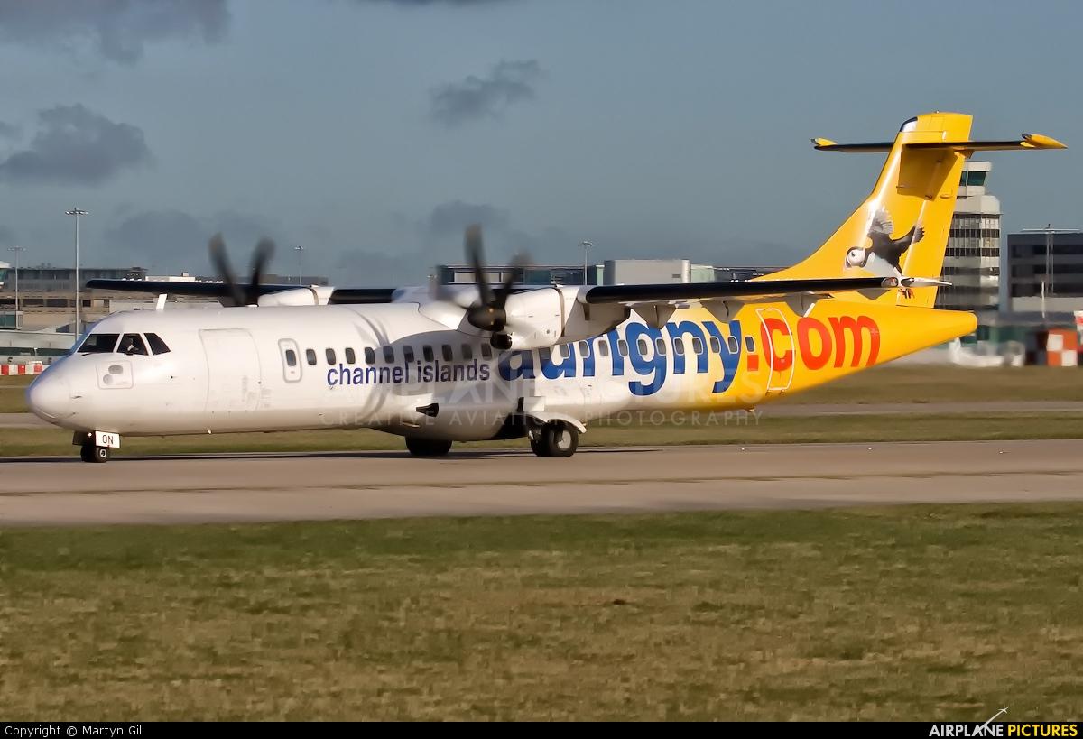 Aurigny Air Services G-VZON aircraft at Manchester