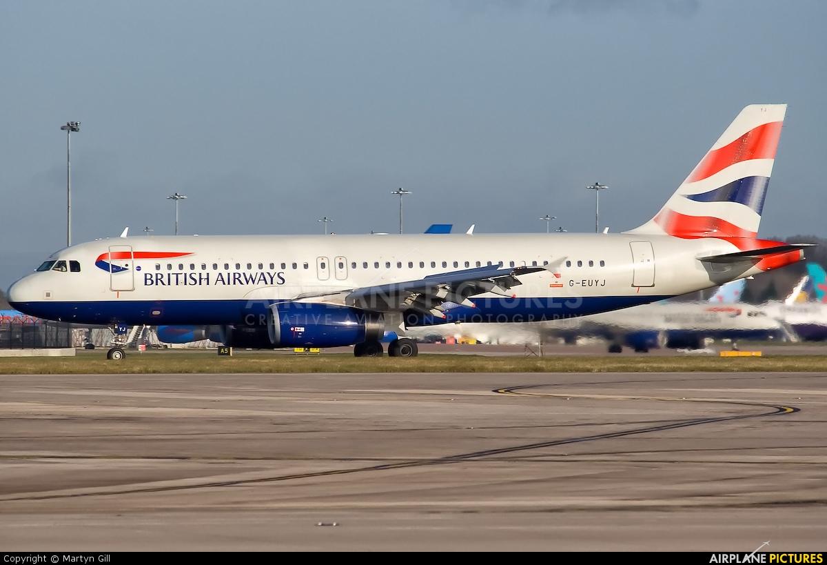 British Airways G-EUYJ aircraft at Manchester