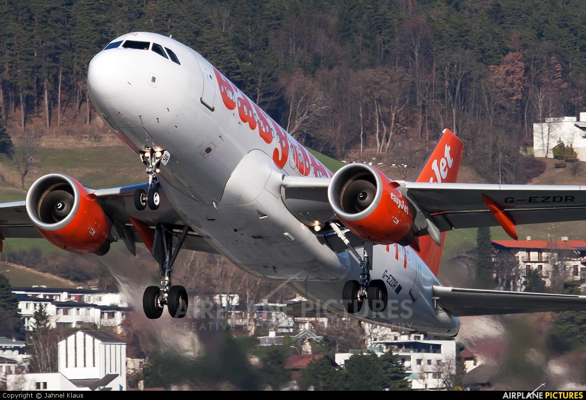 easyJet G-EZDR aircraft at Innsbruck
