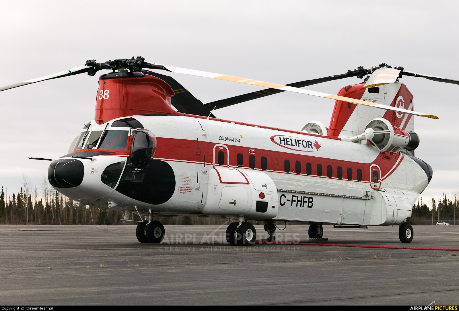Columbia Helicopters C-FHFB aircraft at Goose Bay
