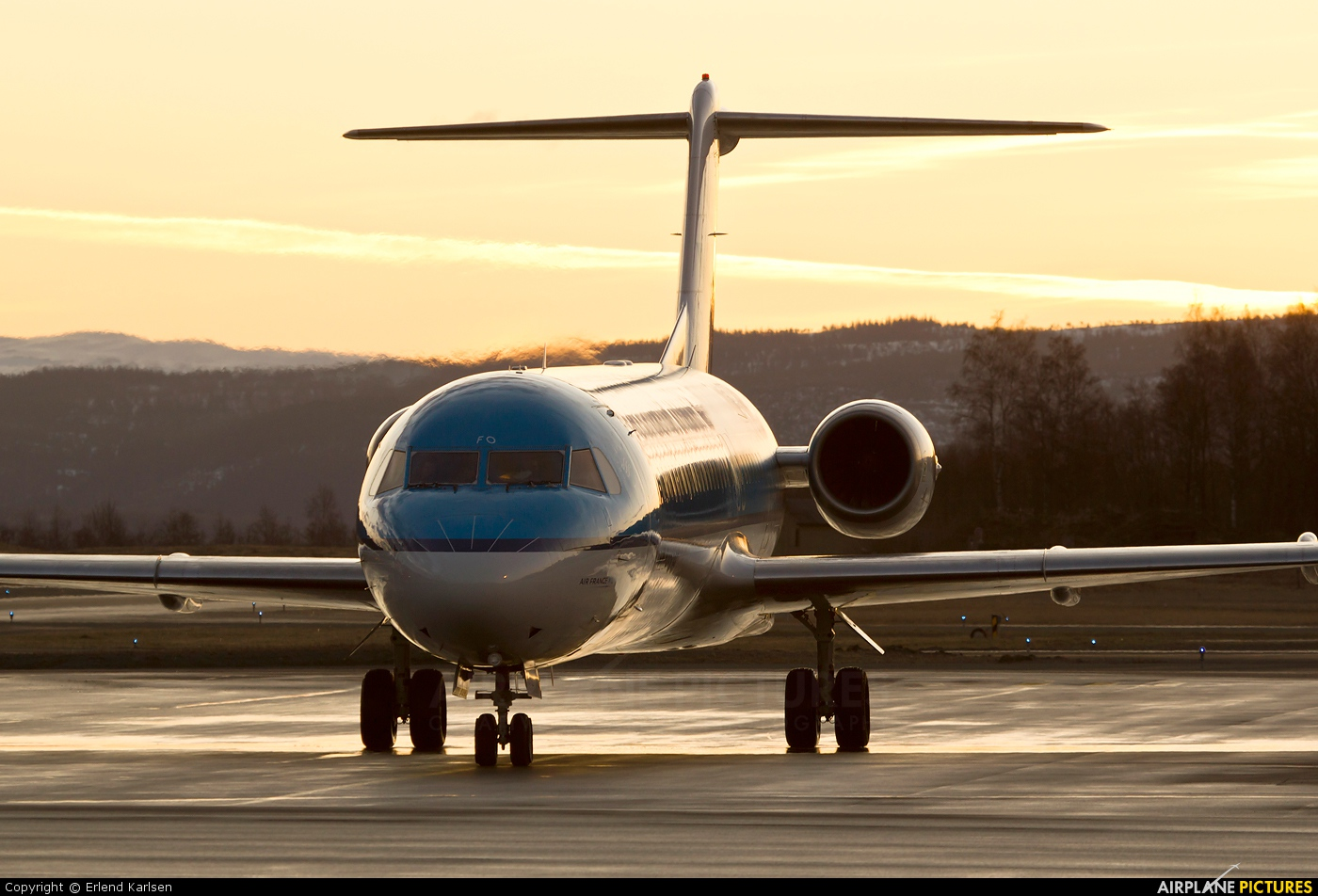 KLM Cityhopper PH-OFO aircraft at Trondheim - Vaernes