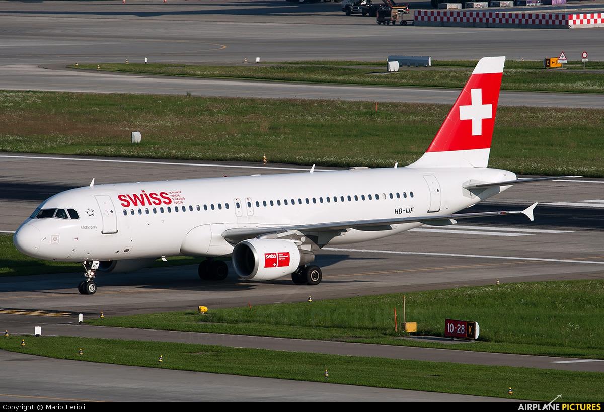 Swiss HB-IJF aircraft at Zurich