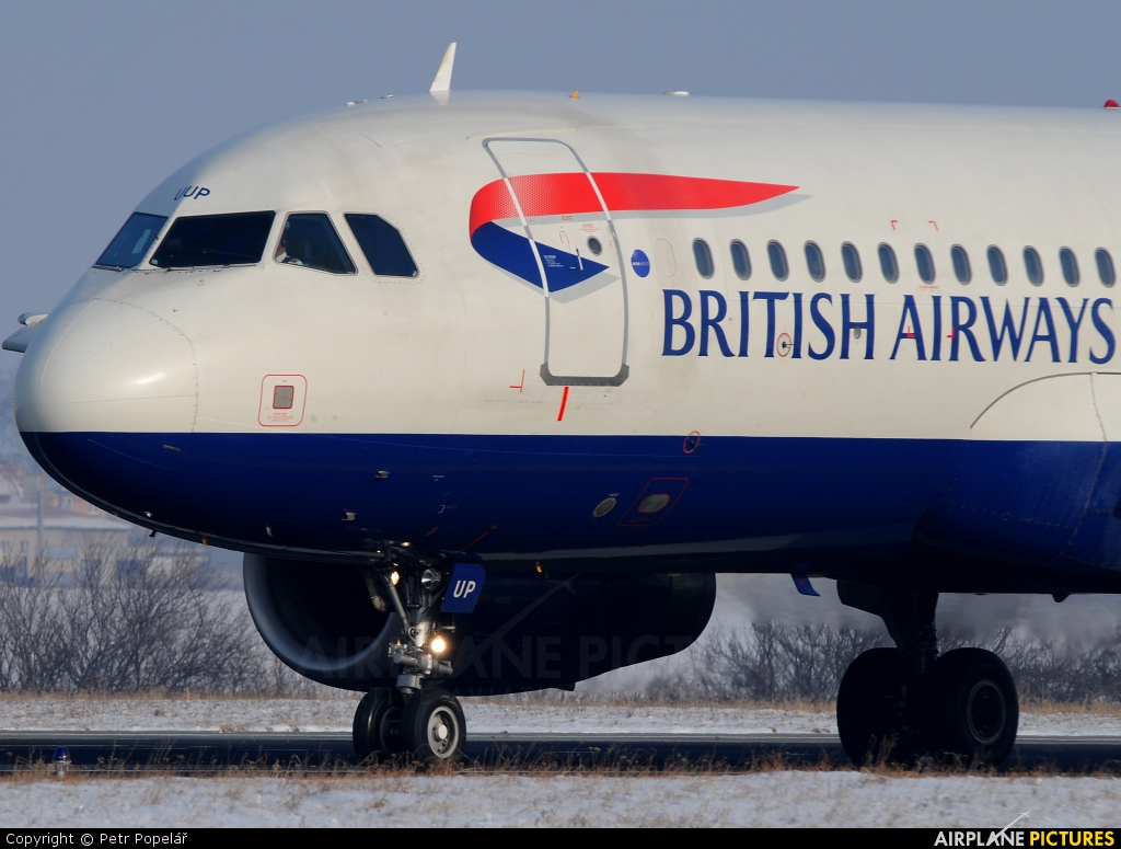 British Airways G-EUUP aircraft at Prague - Václav Havel