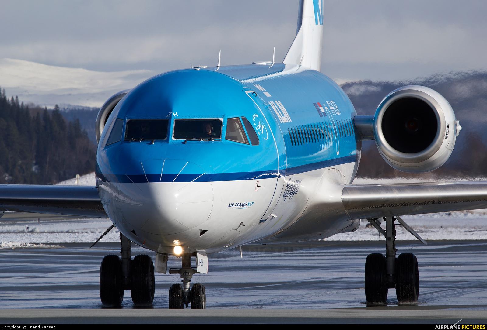 KLM Cityhopper PH-KZH aircraft at Trondheim - Vaernes