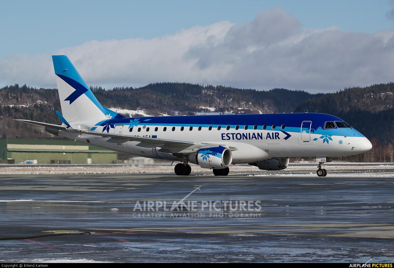 Estonian Air ES-AEA aircraft at Trondheim - Vaernes