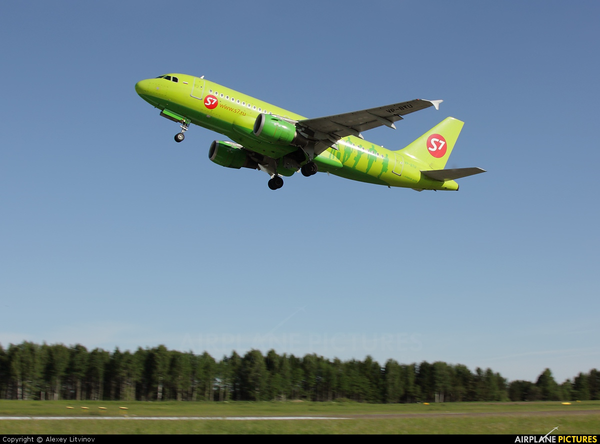 S7 Airlines VP-BTU aircraft at Tomsk - Bogashevo