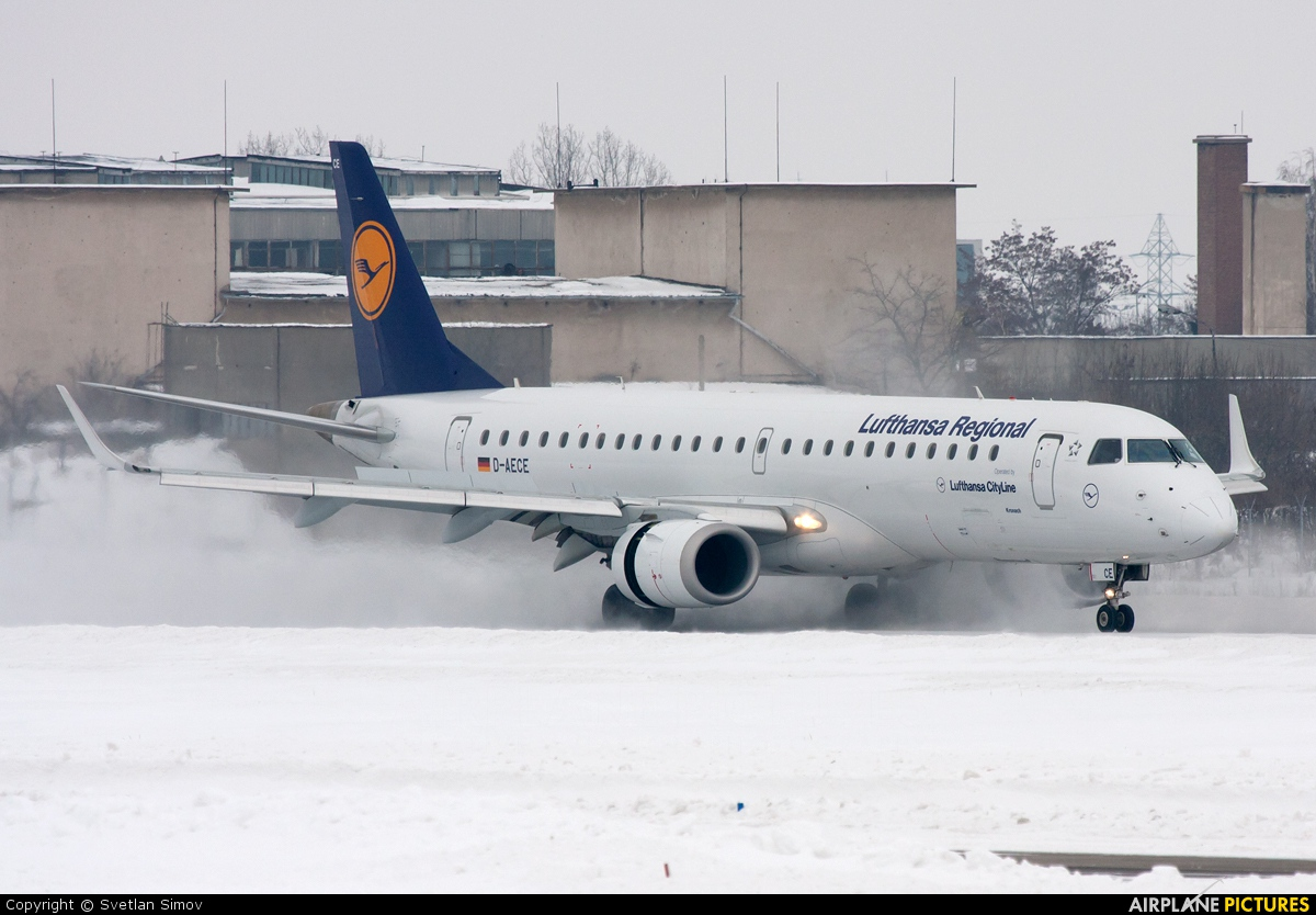Lufthansa Regional - CityLine D-AECE aircraft at Sofia