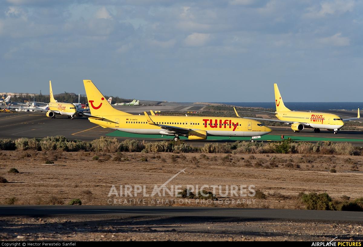 TUIfly D-AHFV aircraft at Las Palmas de Gran Canaria