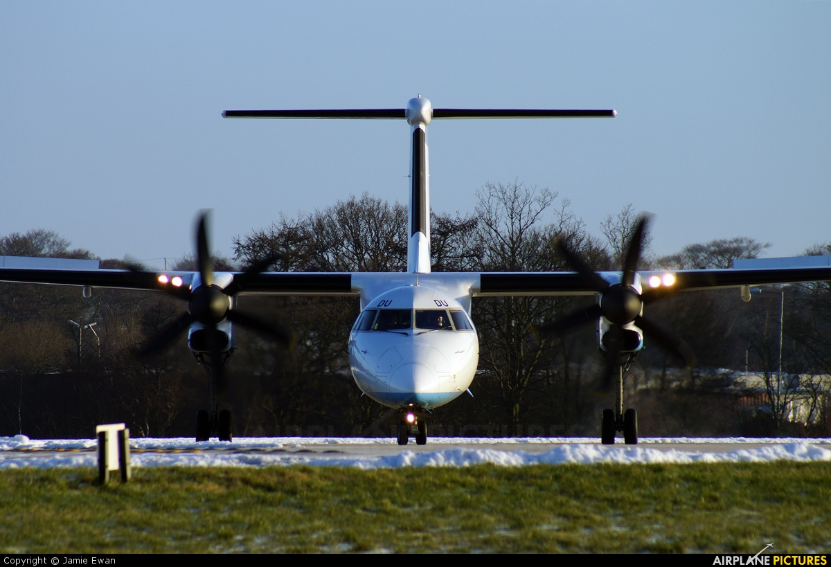 Flybe G-JEDU aircraft at Leeds Bradford