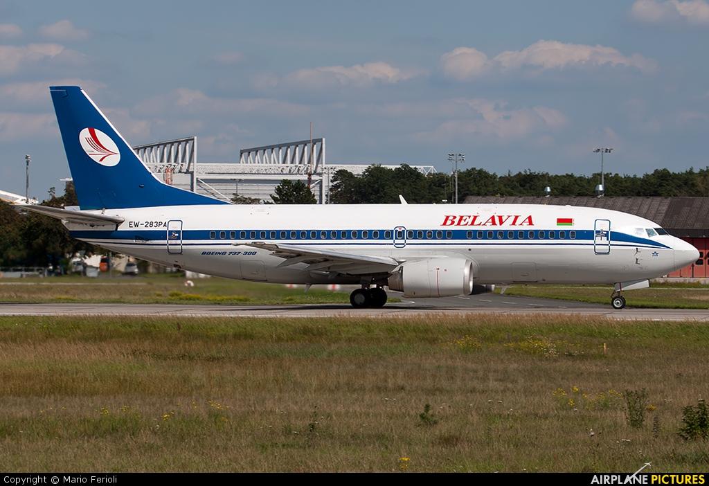 Belavia EW-283PA aircraft at Frankfurt