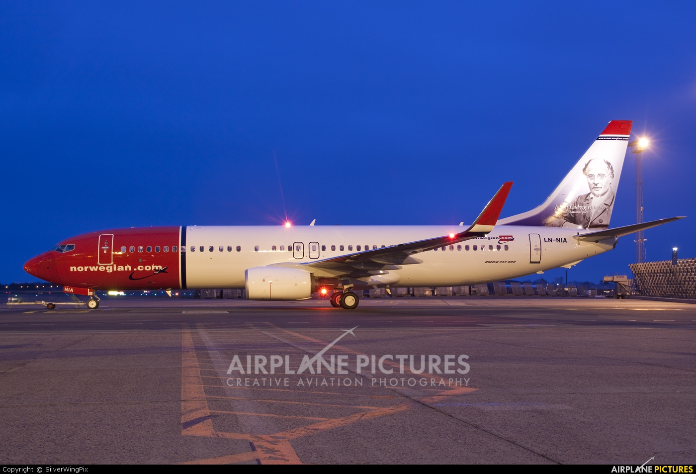Norwegian Air Shuttle LN-NIA aircraft at Undisclosed location