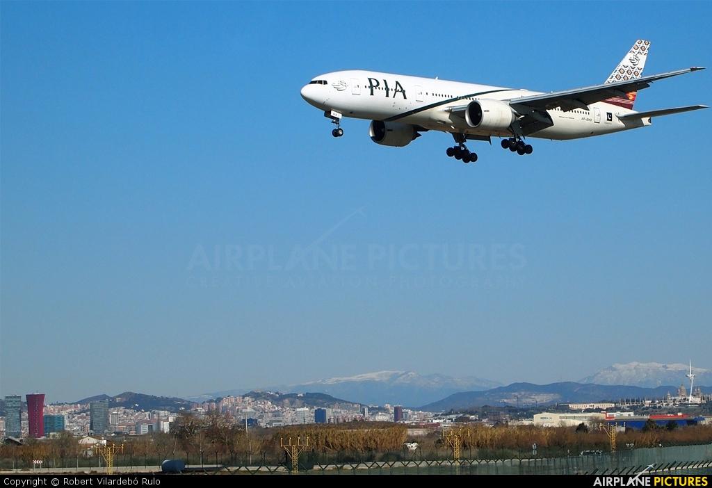 PIA - Pakistan International Airlines AP-BHX aircraft at Barcelona - El Prat