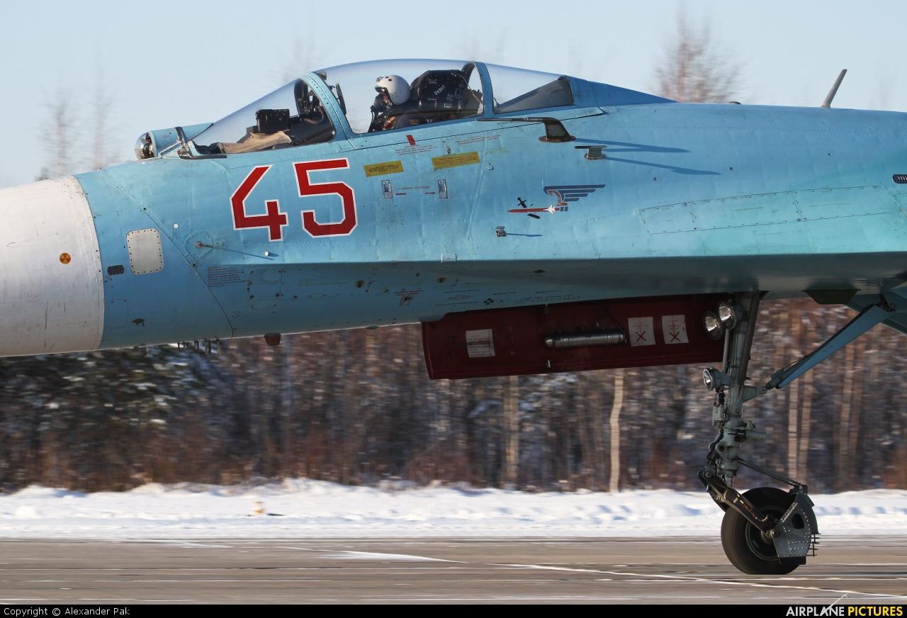 Russia - Air Force 45 aircraft at Petrozavodsk