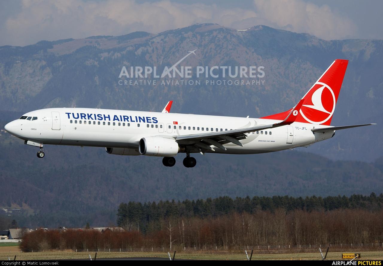Turkish Airlines TC-JFL aircraft at Ljubljana - Brnik