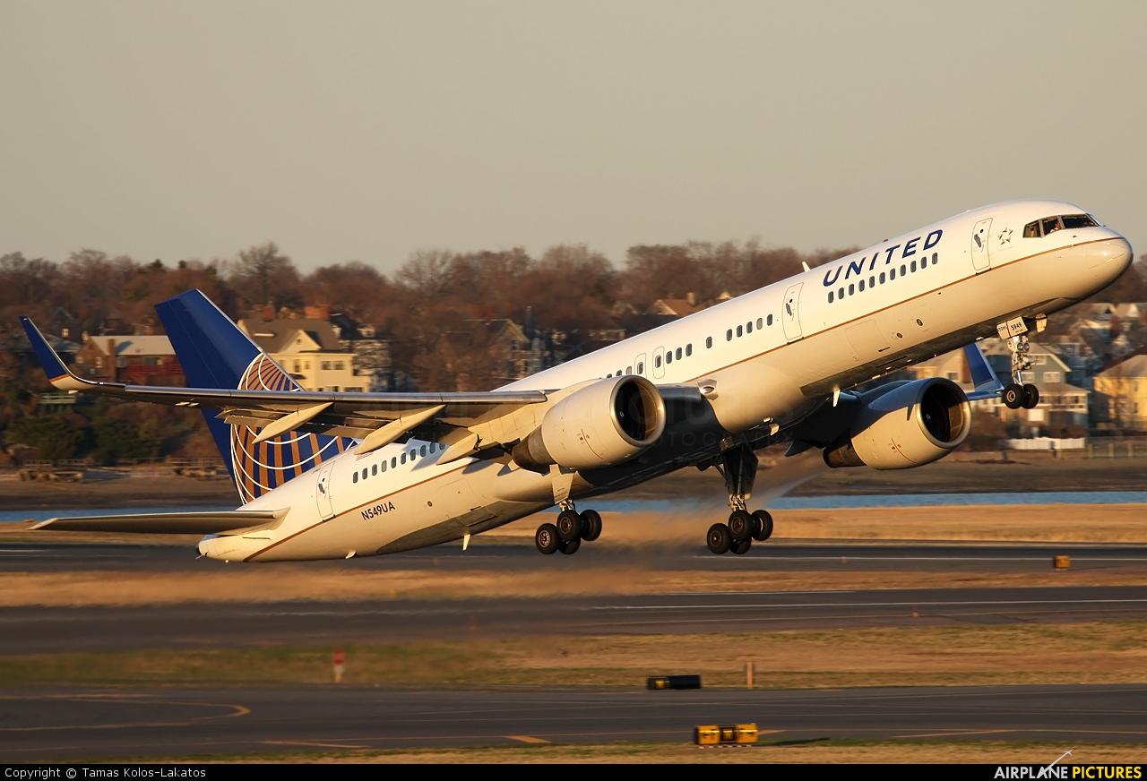 United Airlines N549UA aircraft at Boston - General Edward Lawrence ...