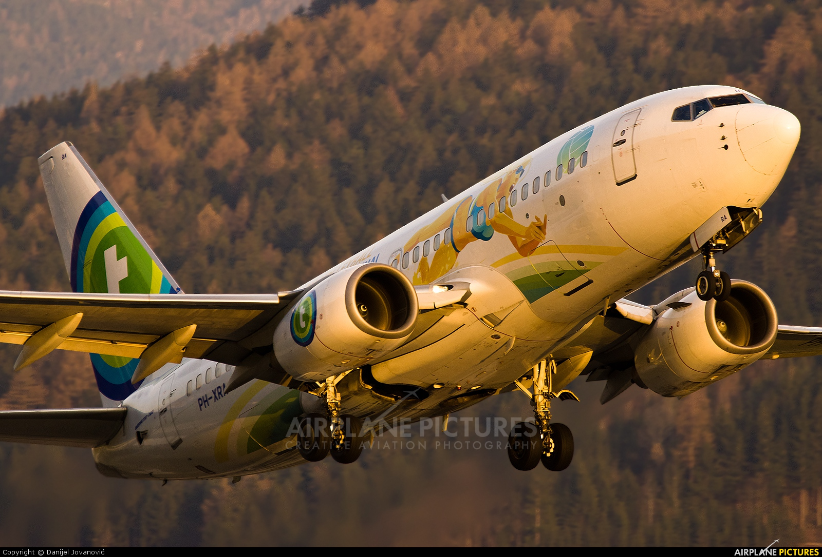 Transavia PH-XRA aircraft at Innsbruck