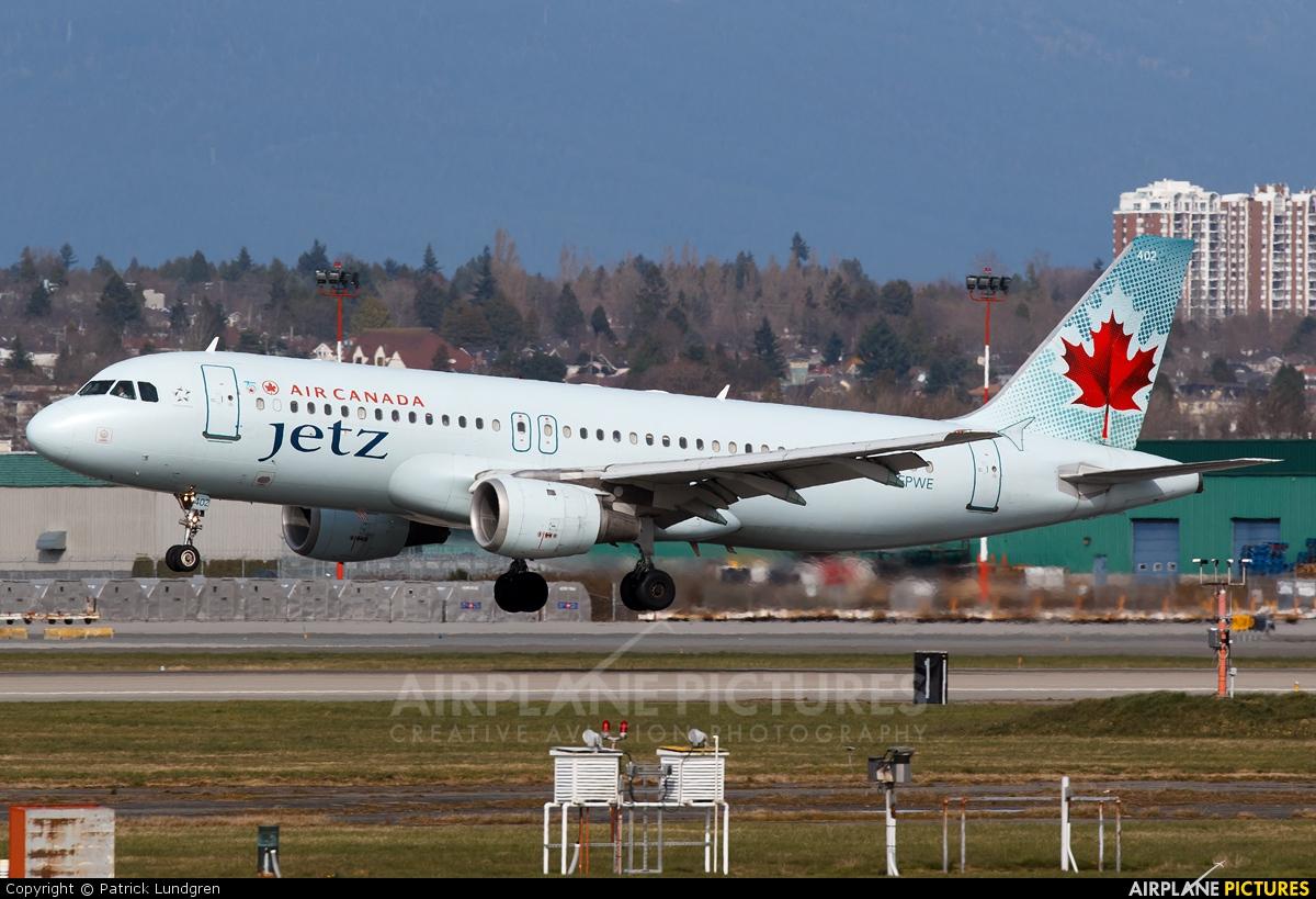 Air Canada Jetz C-FPWE aircraft at Vancouver Intl, BC