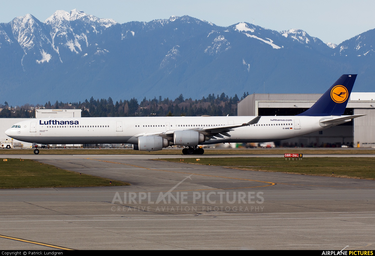 d aihe lufthansa airbus a340 600 at vancouver intl bc. Black Bedroom Furniture Sets. Home Design Ideas