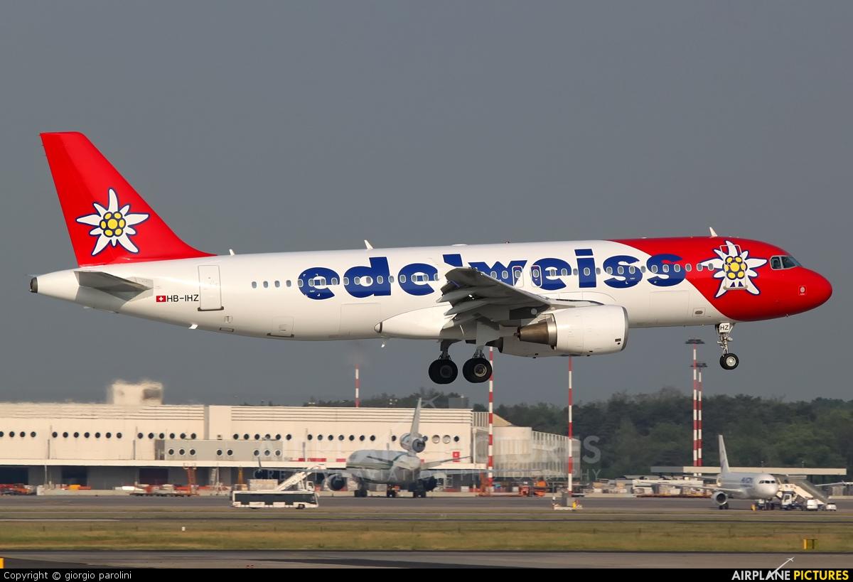 Edelweiss HB-IHZ aircraft at Milan - Malpensa