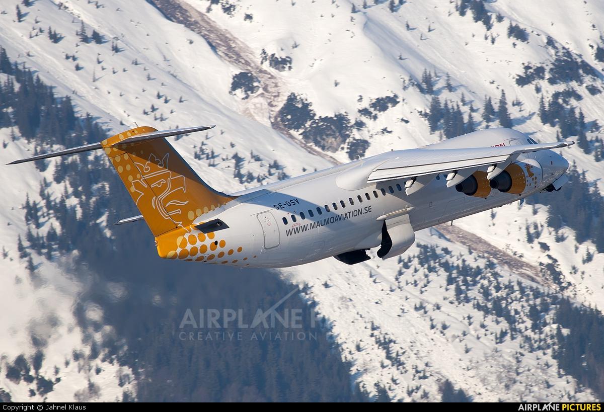 Malmo Aviation SE-DSV aircraft at Innsbruck