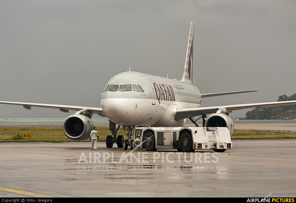 Qatar Airways A7-AHJ aircraft at Mahe Intl