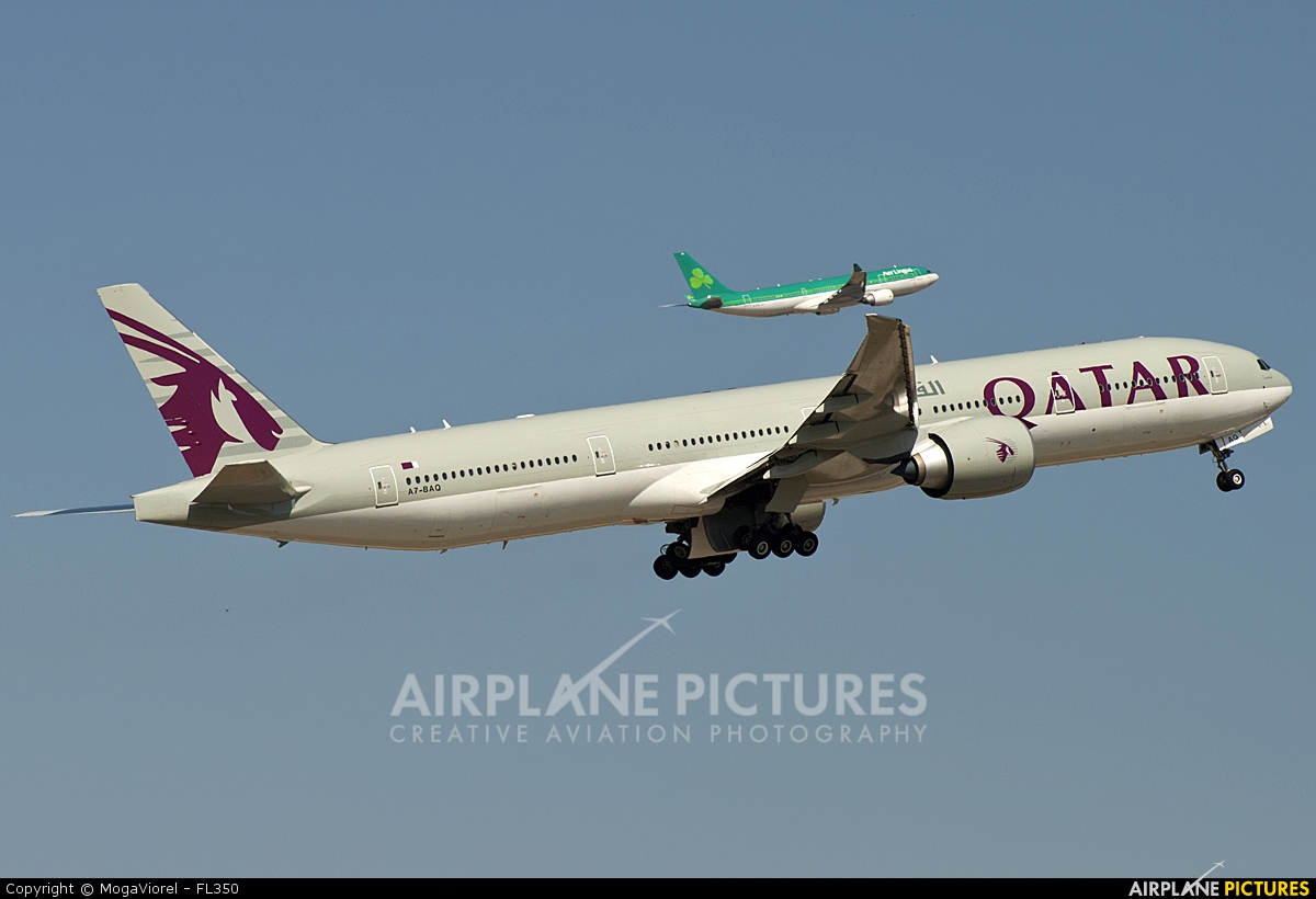 A7 baq qatar airways boeing 777 300er at madrid for Oficina qatar airways madrid