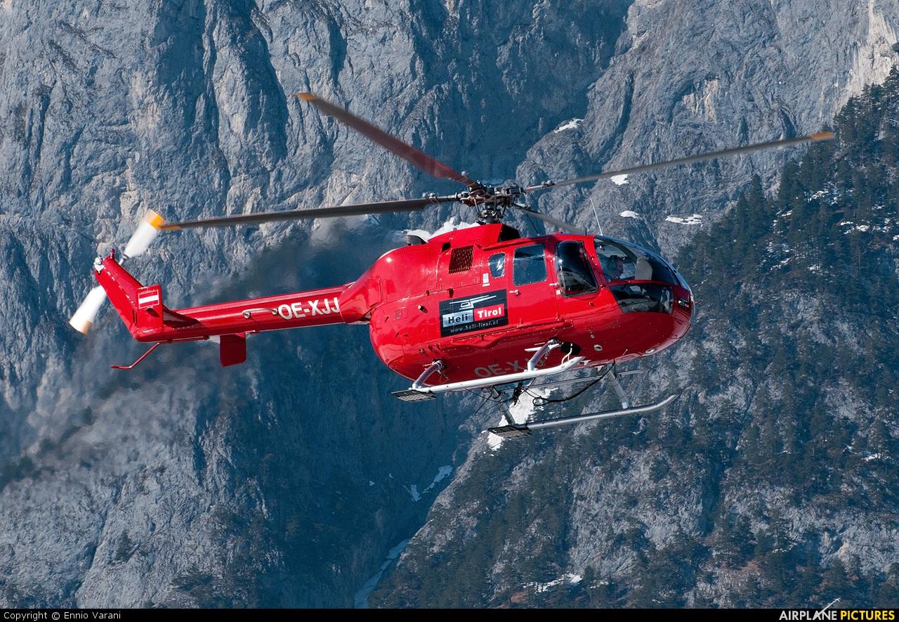 Heli Tirol OE-XJJ aircraft at Innsbruck