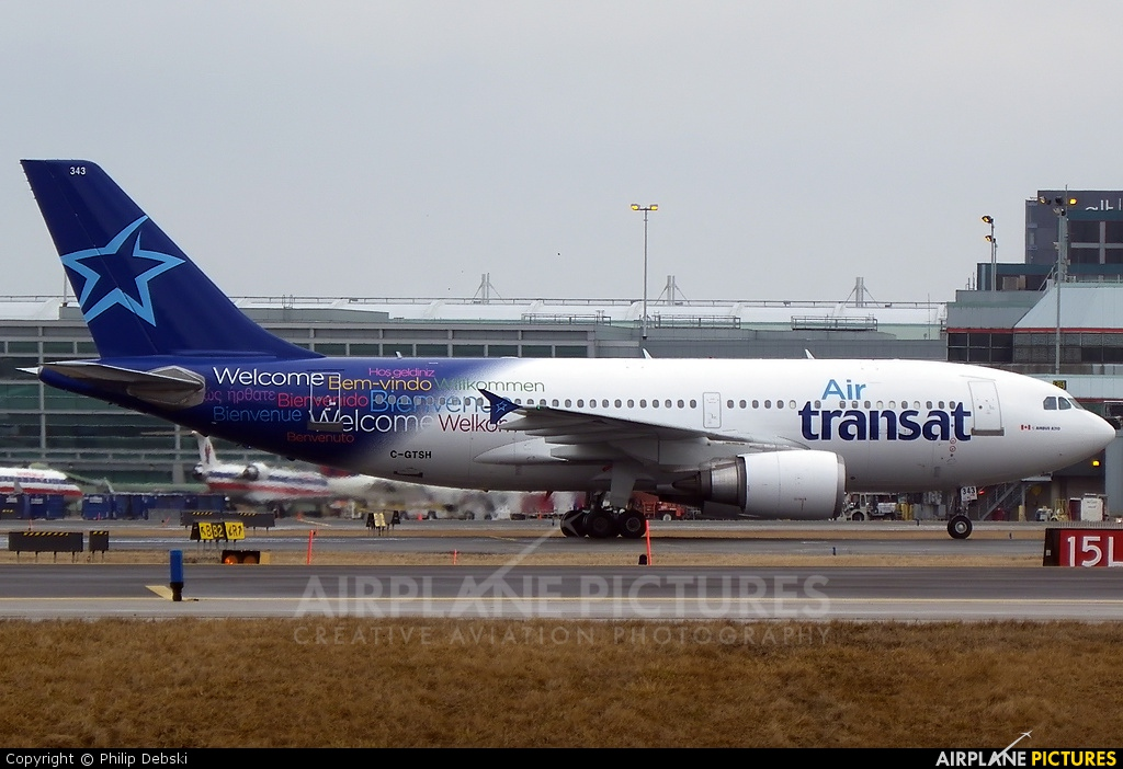 Air Transat C-GTSH aircraft at Toronto - Pearson Intl, ON