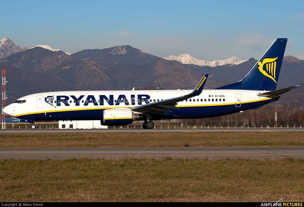 Ryanair EI-EKG aircraft at Bergamo - Orio al Serio