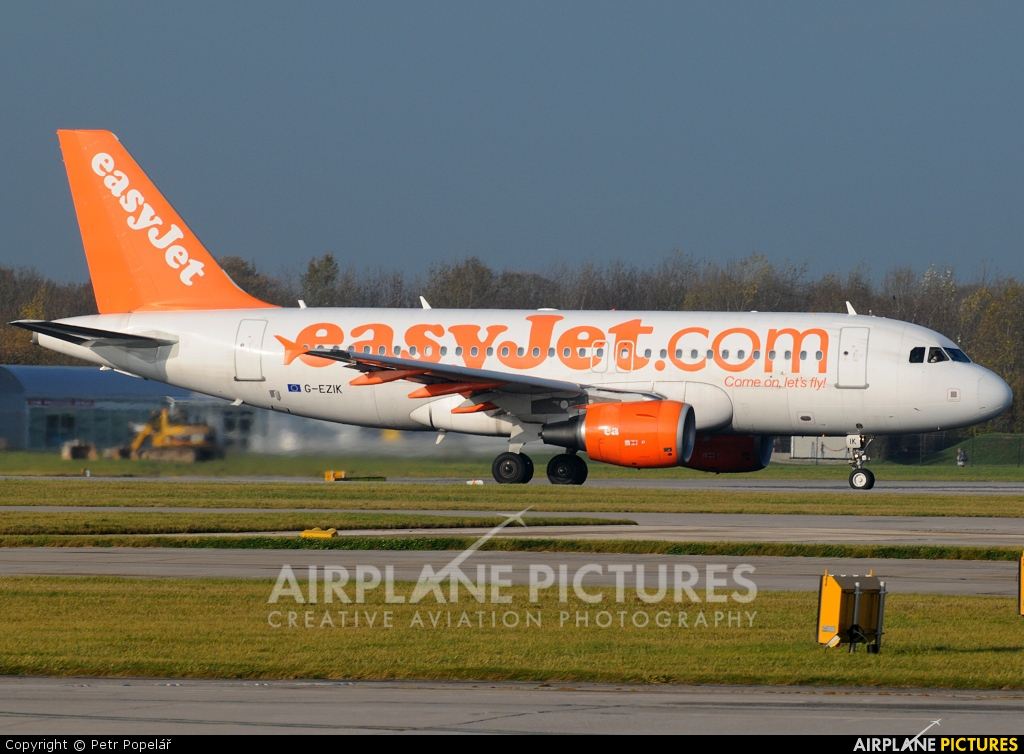 easyJet G-EZIK aircraft at Prague - Václav Havel