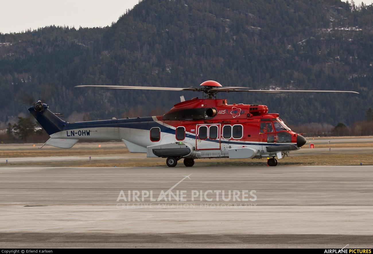 CHC Norway LN-OHW aircraft at Trondheim - Vaernes