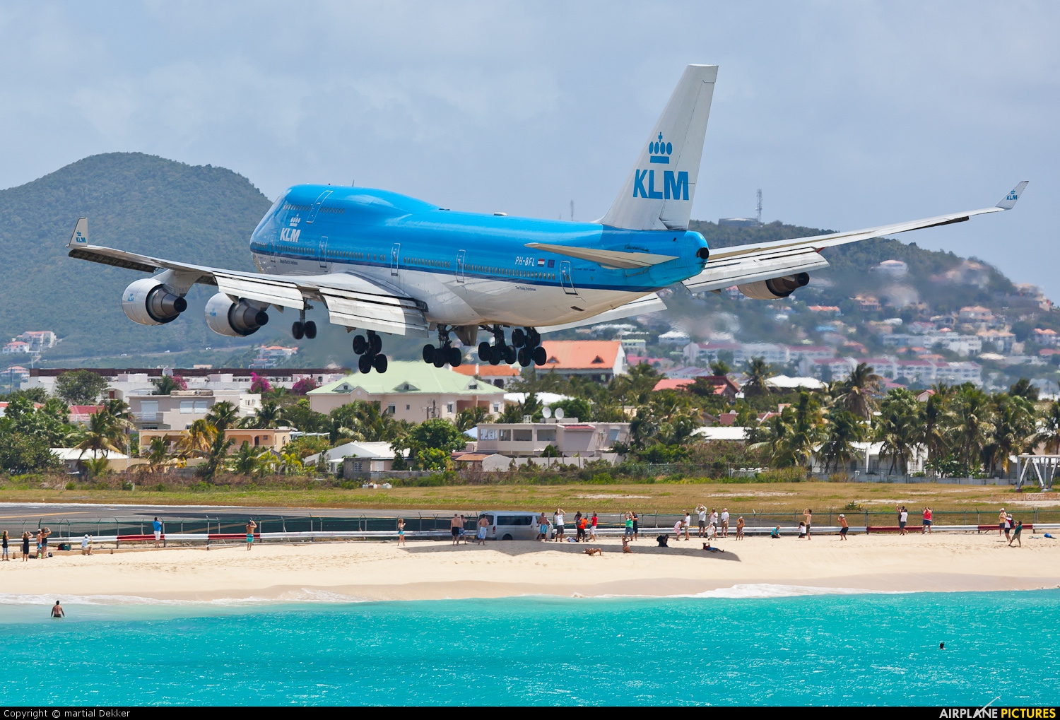 KLM PH-BFL aircraft at Sint Maarten - Princess Juliana Intl