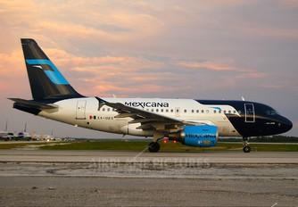 XA-UBX - Mexicana Airbus A318