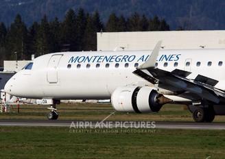 4O-AOA - Montenegro Airlines Embraer ERJ-195 (190-200)